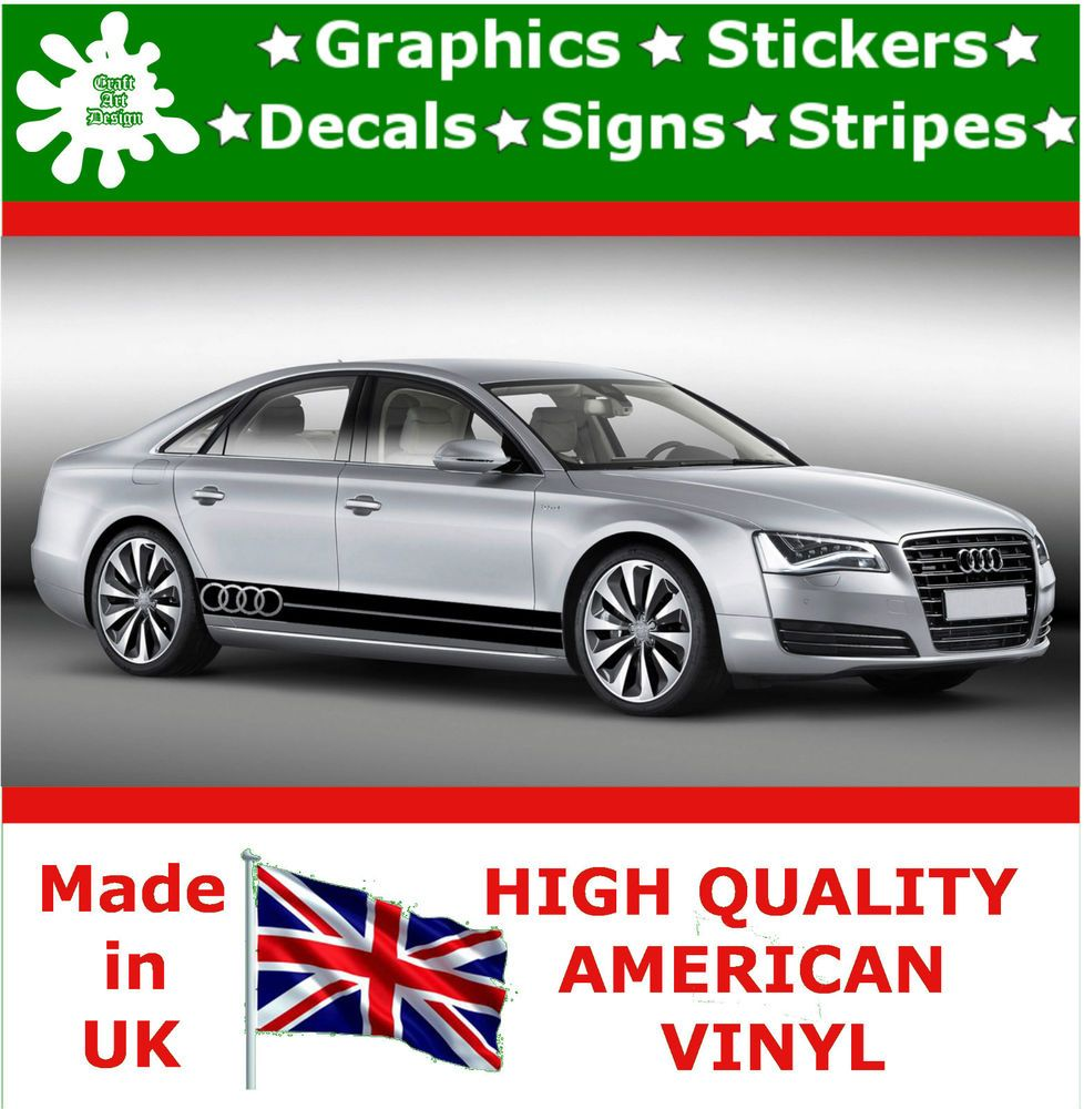 Audi Large Set Kit Car Stripes Decal Vinyl Sticker Graphics Racing - Auto decals and graphics