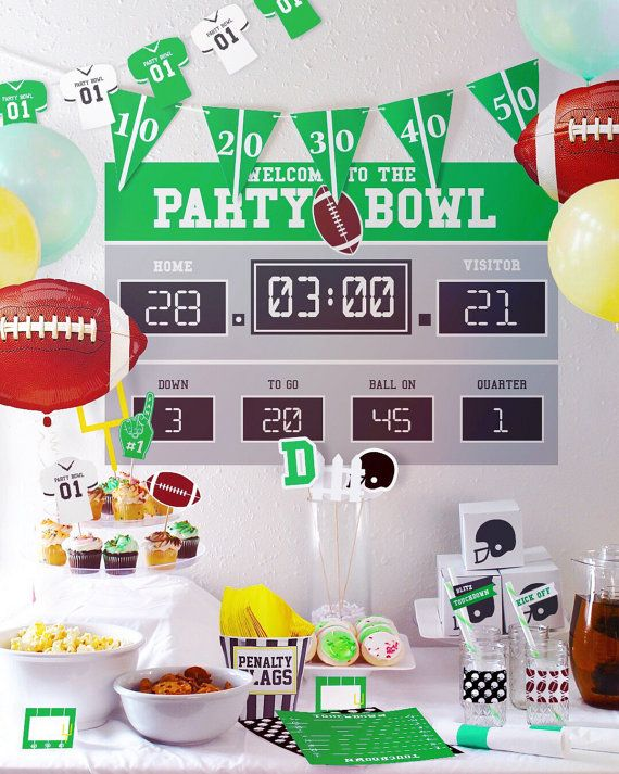 Scoreboard Only // Football Party Decorations // Customizable ...