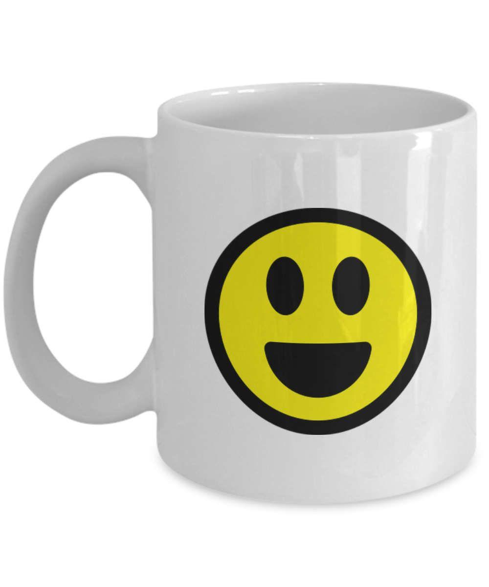 Smiley Face Coffee Mug Happy Smiley Face Mug Laughing Emoji Mug Happy Face Coffee Mug
