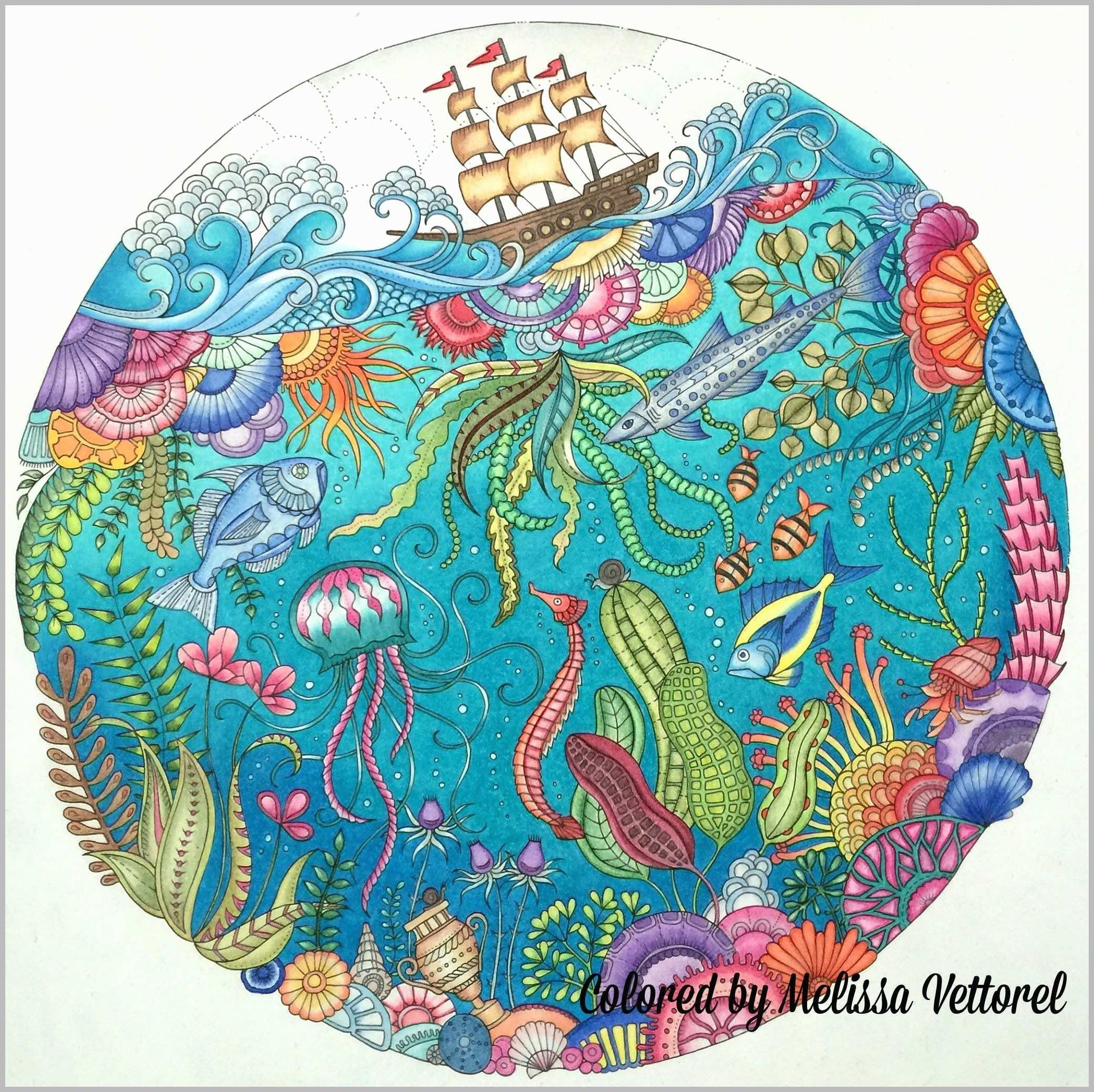 Lost Ocean Colored Pages Best Of 255 Lost Ocean Coloring Book Johanna Basford Lost Ocean Johanna Basford Coloring