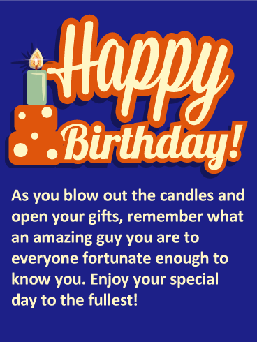happy birthday to a great guy You Are an Amazing Guy   Happy Birthday Card: A big, bold