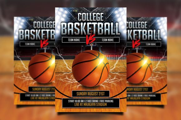 College Basketball Flyer | College Basketball And Flyer Design