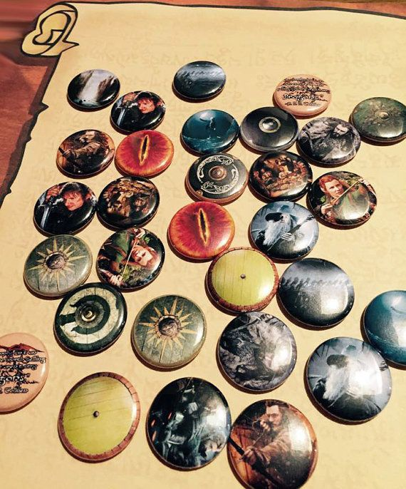 Assorted Lord of the Rings Buttons - Geeky Gift