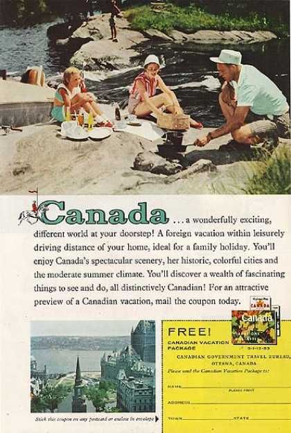 Canadian Vacation Package 1959