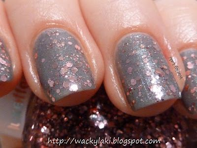 Try This With My Pink Chunky Glitter Polish Over Grey Ulta Brand Concrete