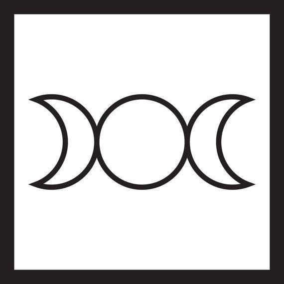 Pagan Triple Moon Goddess Symbol Vinyl Decalsstickers Pinterest