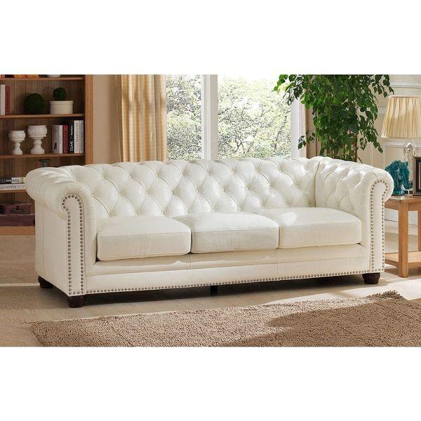 Terrific Nashville White Genuine Leather Chesterfield Sofa With Short Links Chair Design For Home Short Linksinfo