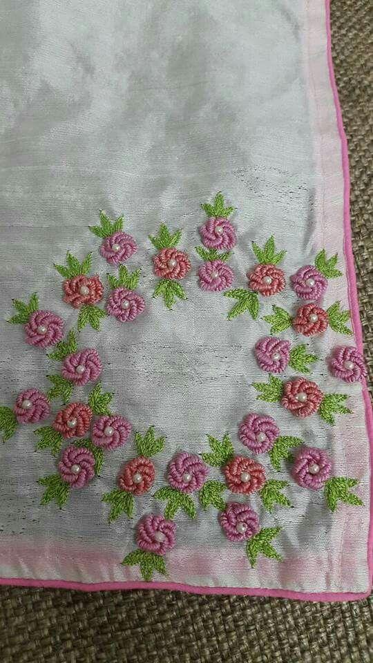 Pin By Ramani Munny On Bullion Stitch Embroidery Hand Embroidery