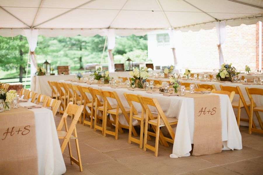 Simple wedding reception rustic