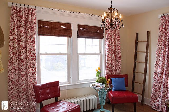 Unique way to hang window treatments by inspired by charm - Unique ways to hang curtains ...