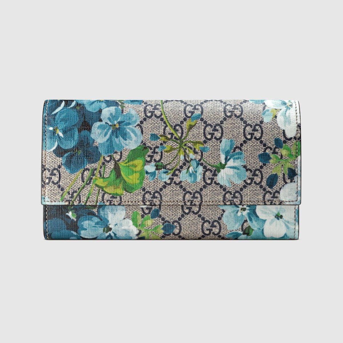 d3effdfa764b36 GUCCI GG Blooms continental wallet - blue blooms. #gucci # | Gucci ...
