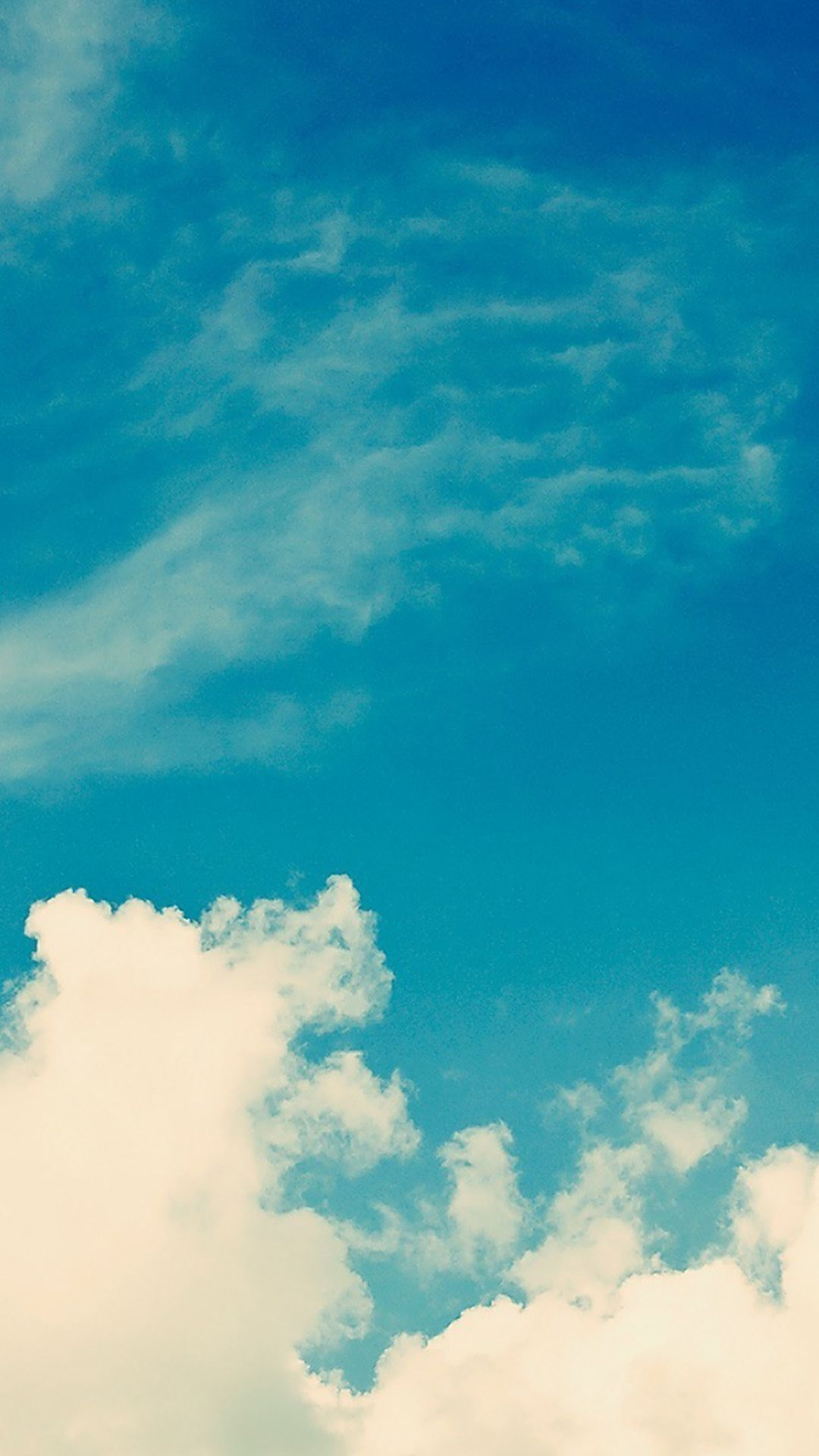 White vintage clouds blu sky iphone 6 plus hd wallpaper for Wallpaper home iphone 6
