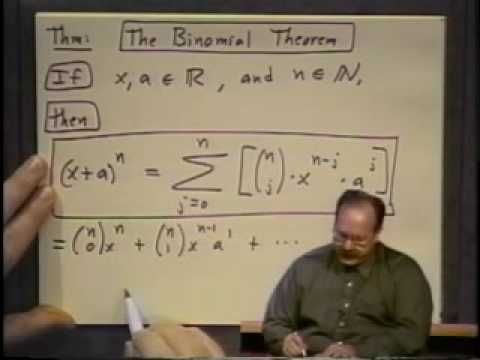 College Algebra - Lecture 38 - The Binominal Theorem - YouTube