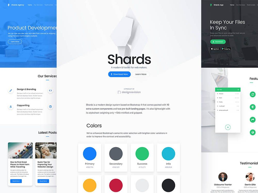 Download Shards, a free and modern Bootstrap 4 UI kit with a modern ...