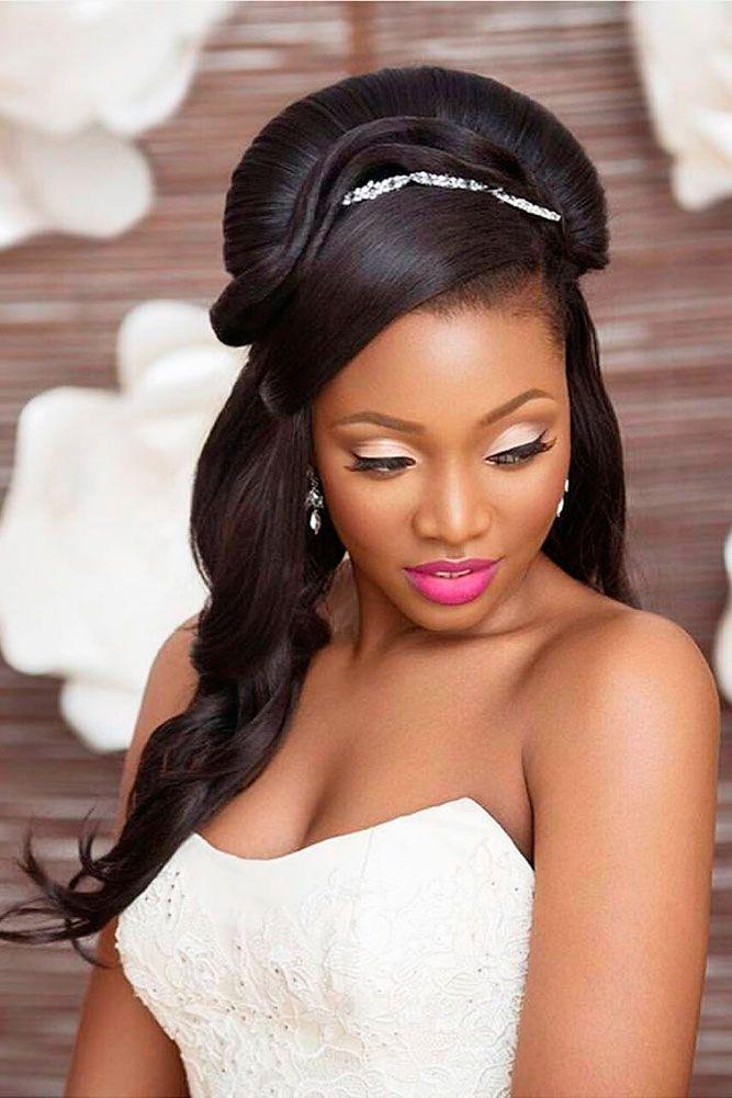 39 Black Women Wedding Hairstyles | Black wedding hairstyles, Black ...