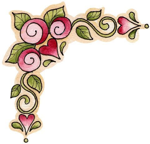 Esquinero flores … … | Doodles | Pinte…