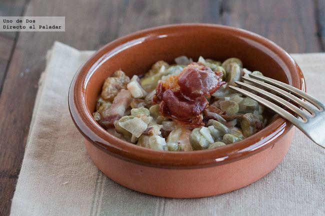 Receta De Habitas Frescas Con Jamón Un Clásico De La Gastronomía Española