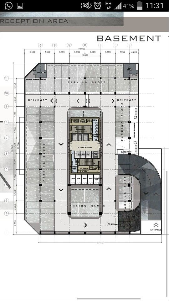 Floor Plan Render Office Building Architecture Apartment Plans Skyser Pc Parking