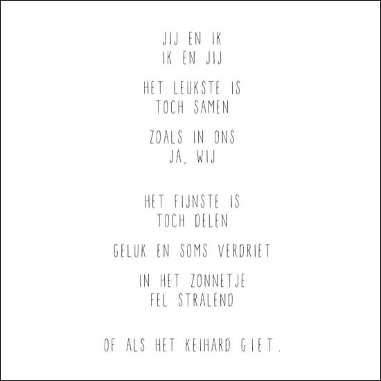 Citaten Voor Hem : Jij en ik mooie teksten op kaartjes van itsloft