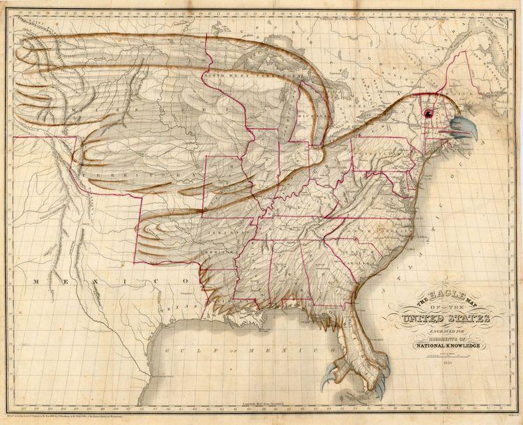Vintage Infodesign United States - Vintage us map