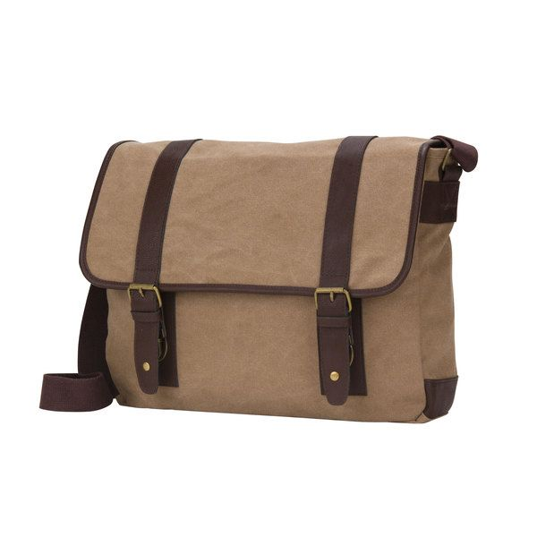 4ed7dd8d3fe8 American Casual Collection 16-inch Flap Over Canvas Computer Messenger Bag