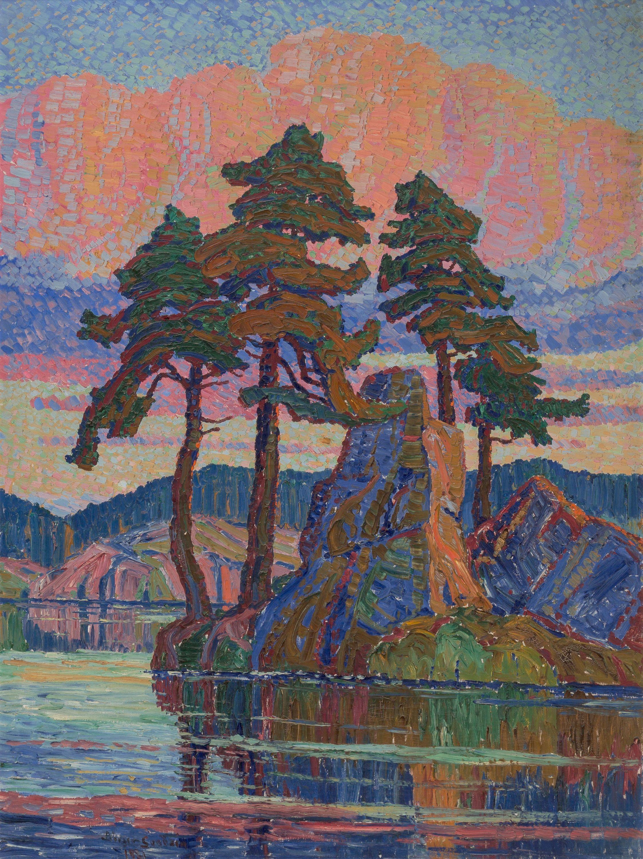Birger Sandzén (American, 18711954). Lake at Sunset