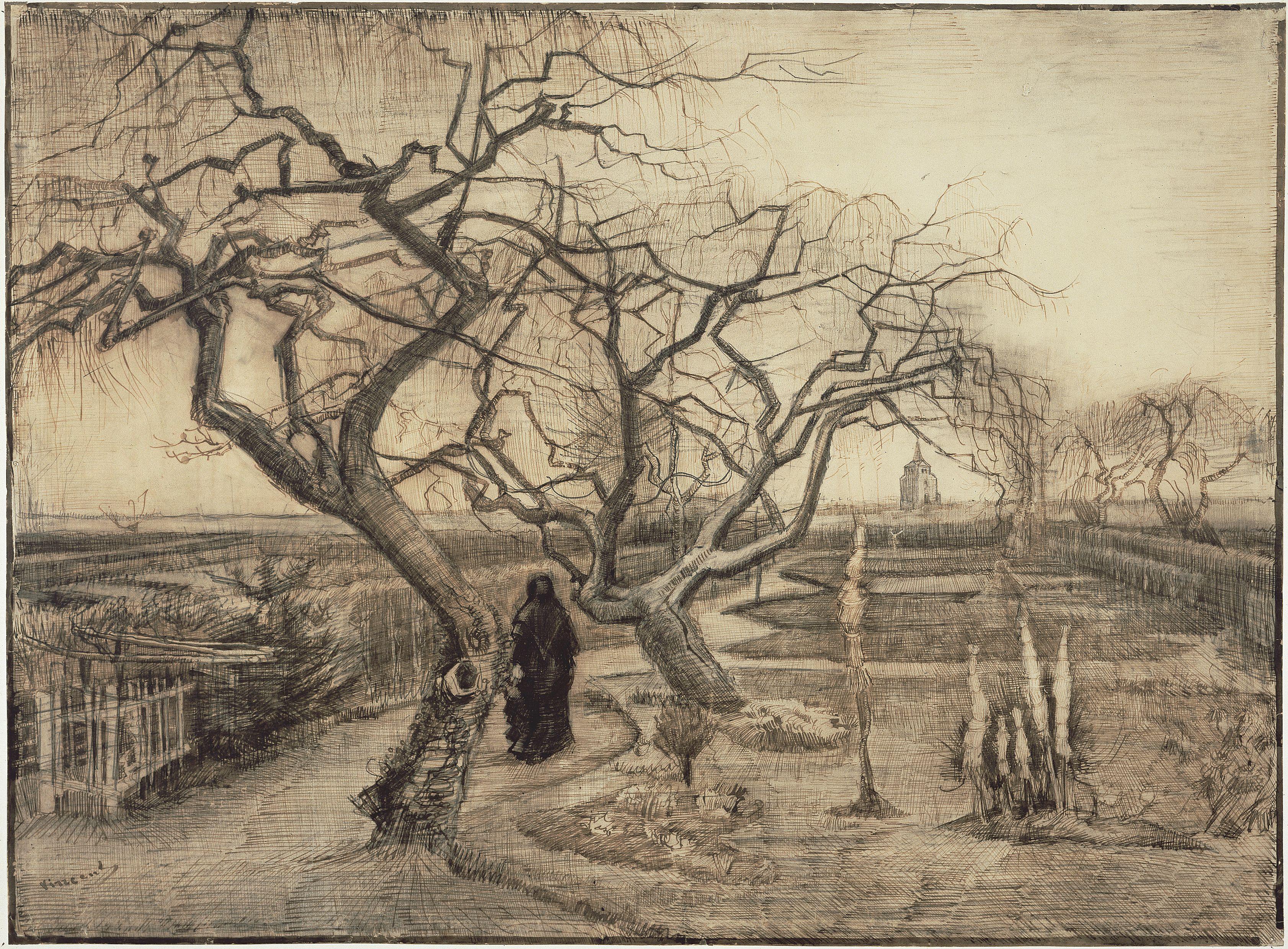 Jardin En Hiver 1884 Van Gogh Museum Amsterdam De Vincent Van
