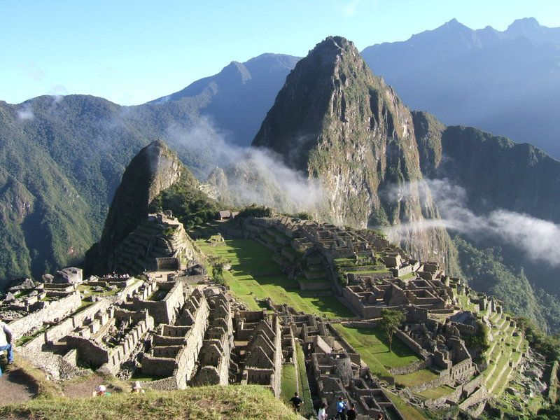 machu picchu! I went there when I was student. It was like a Laputa the castle in the sky!!