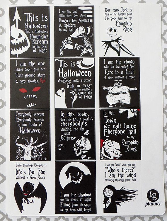 Attractive Nightmare Before Christmas Quote Full Box Planner By KGPlanner