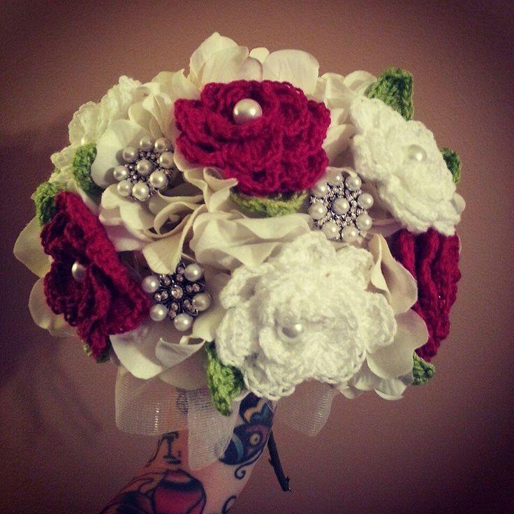 Crocheted Wedding Bouquetbridal Bouquet Of Bubble Lule Per Martes