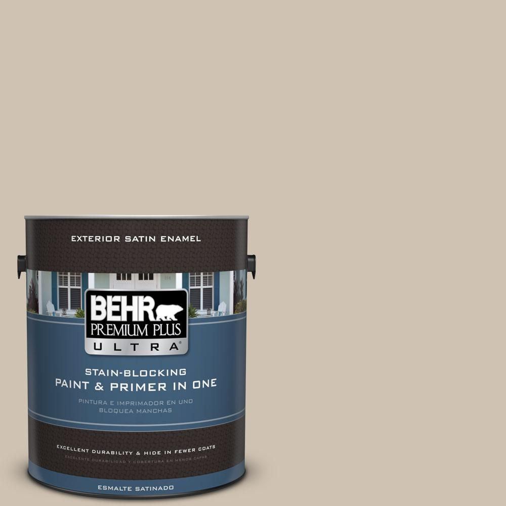 BEHR Premium Plus Ultra Home Decorators Collection 1-gal. #hdc-NT-13 Merino Wool Satin Enamel Exterior Paint