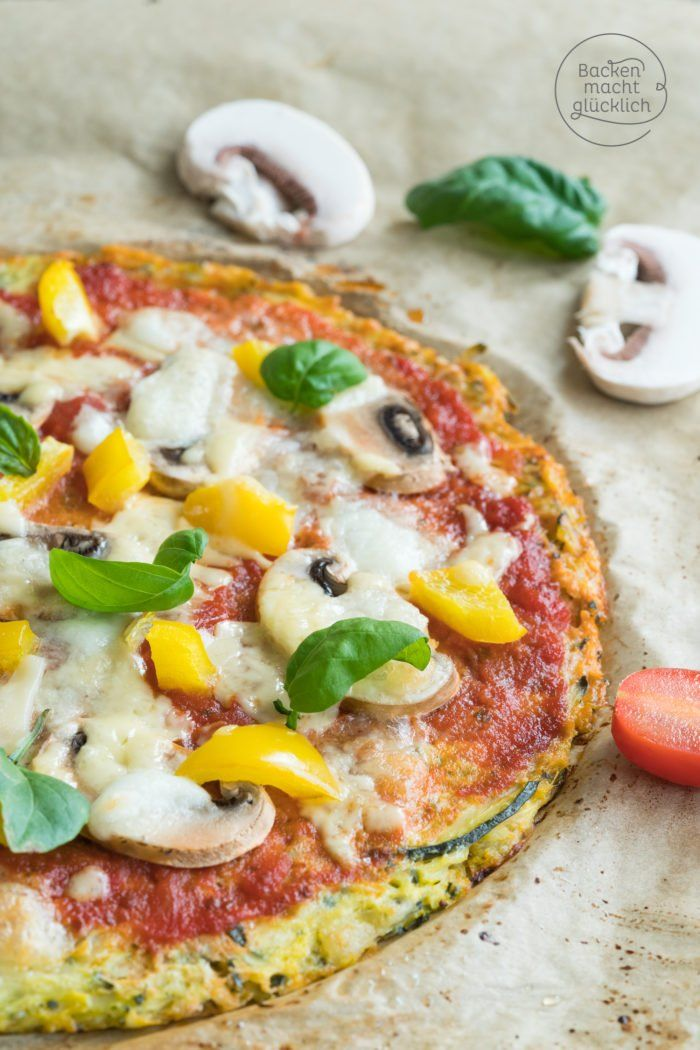 Low Carb Zucchini-Pizza #pizzateig