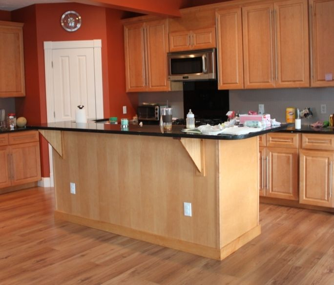 Fake Hardwood Floors fake hardwood floors in kitchen cream color with soft orange wood