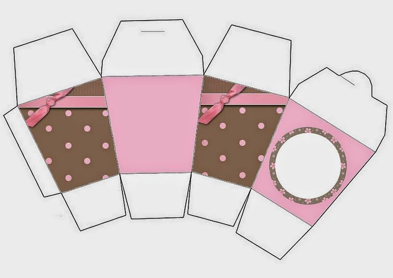 Brown and Pink Polka Dots Free Printable Boxes. Check out the whole set! :)