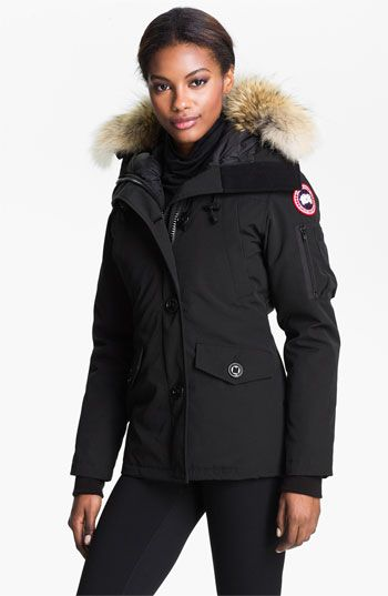 canada goose montebello slim fit down parka with genuine coyote rh pinterest com