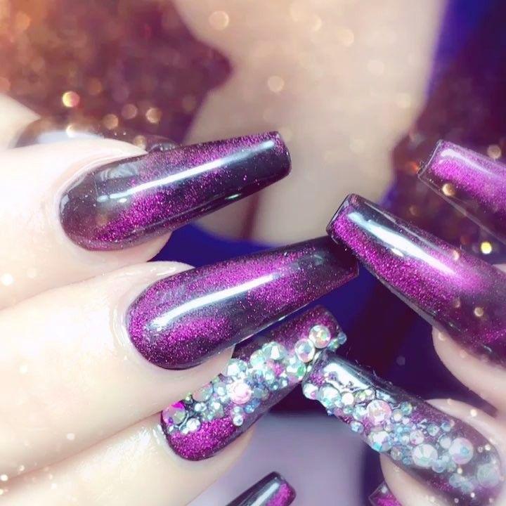 10 Impressive Coffin Nails - Ballerina nail designs