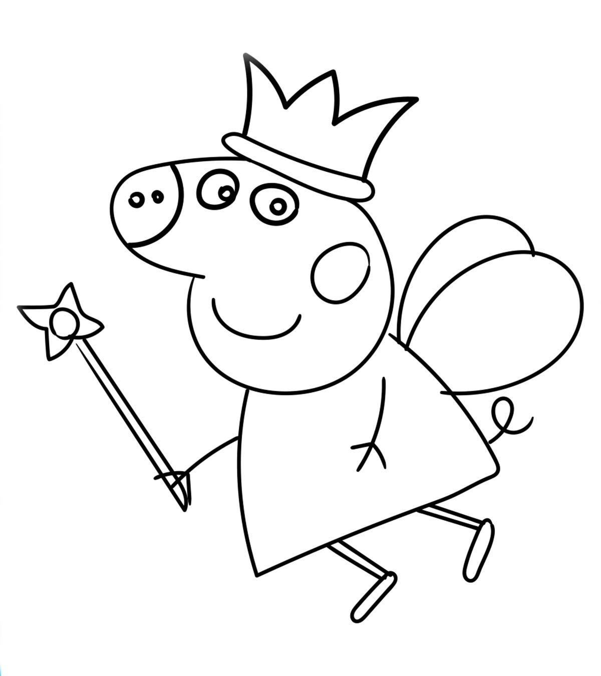 Peppa Pig Colouring Worksheets In