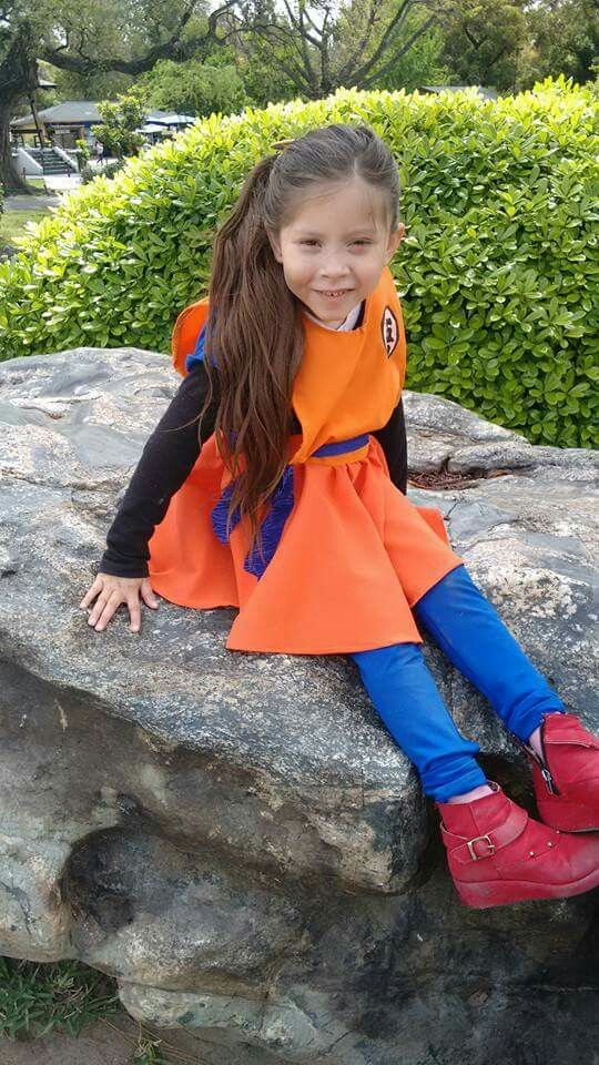 Mini cosplay goku girl dragon ball z dbz niña  bfa960da3f38