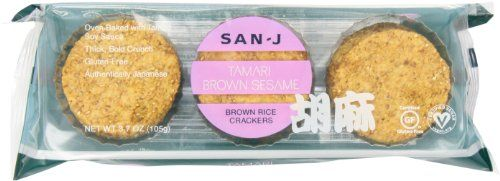 SanJ Sesame Brown Rice Crackers 37Ounce Packages Pack of 12 -- Find out more about the great product at the image link.Note:It is affiliate link to Amazon.