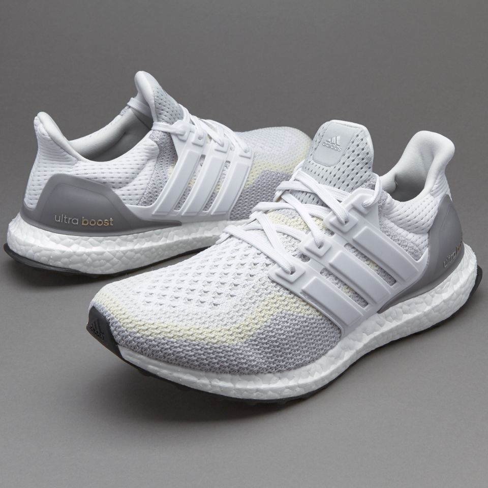 sports shoes d0208 9b331 adidas Ultra Boost - White  Clear Grey