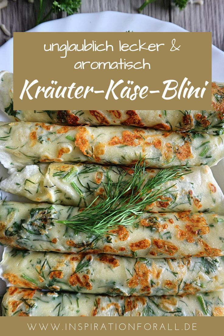 Photo of Kräuter-Käse-Blini – Rezept für aromatische Kräuterpfannkuchen mit Käse