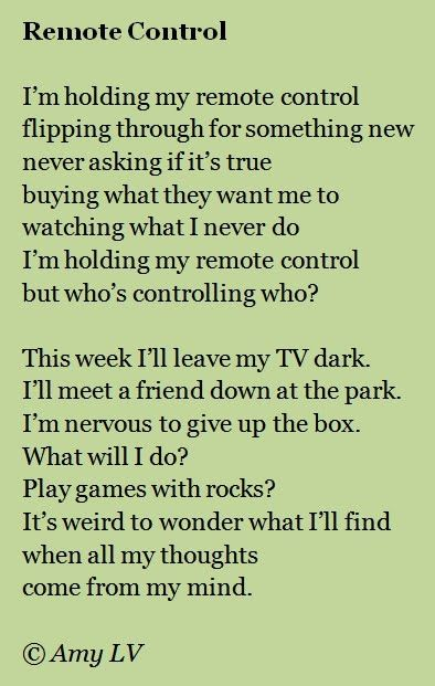 Remote Control Roald Dahl Love This Poem