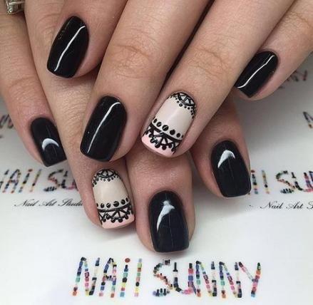 new nails black hands simple ideas  black nails black