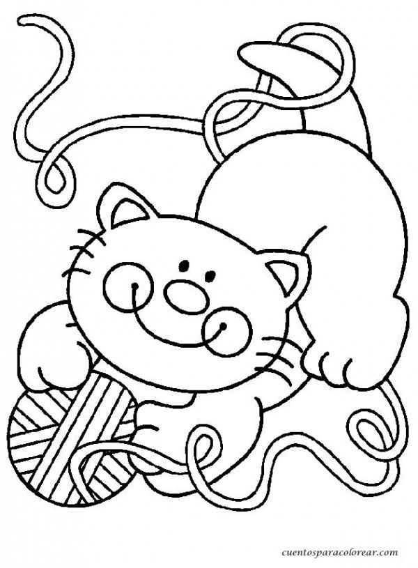 gatos.png3 | DIBUJOS PARA COLOREAR | Pinterest | Gato, Dibujos de ...