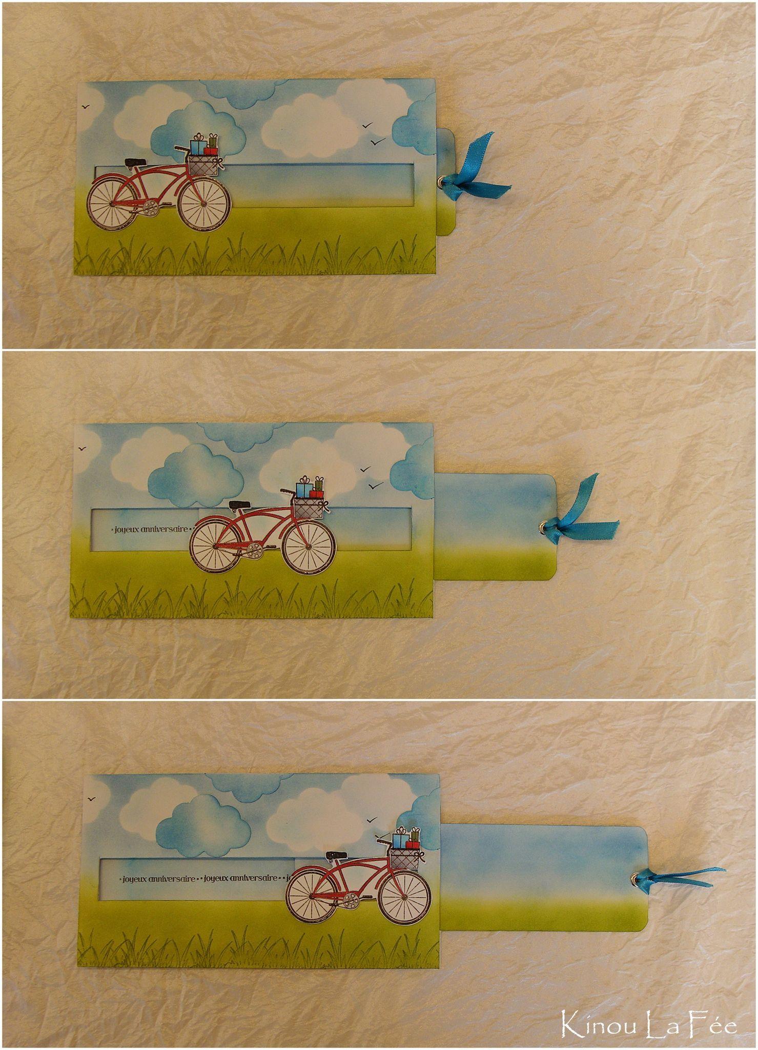 t 39 huit ans kinou la f e carterie bicycle cards spinner card et scrapbook. Black Bedroom Furniture Sets. Home Design Ideas