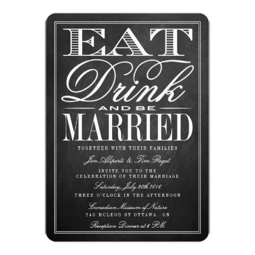 "Eat, Drink  5"" X 7"" Invitation Card"
