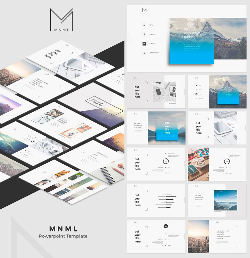 Mnml Cool Powerpoint Template With Creative Designs Powerpoint