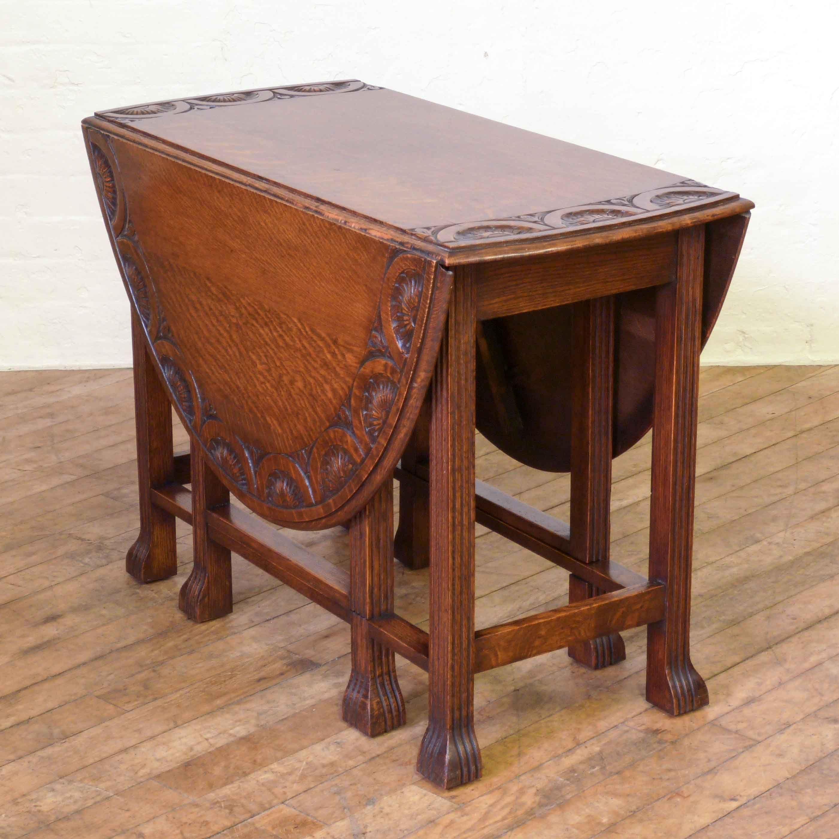 Antique Carved Oak Gateleg Table Antique Oak Furniture Antique
