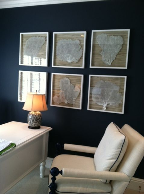 Charmant Fun, DIY Art Idea! » Sea Fans, Seashells, Nautical Blue Wall For A Home  Office