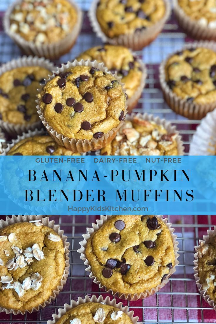 Banana-Pumpkin Blender Muffins